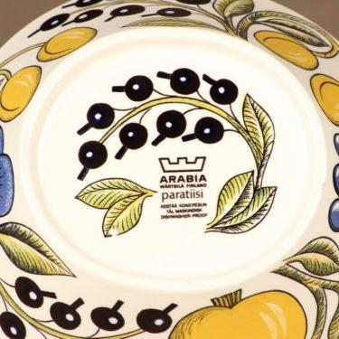 Arabia Paratiisi jälkiruokakulho, ovaali, suunnittelija Birger Kaipiainen, ovaali, serikuva, soikea kuva 3