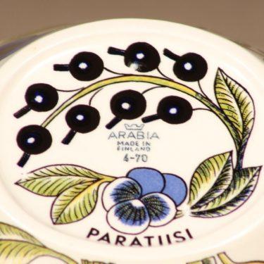 Arabia Paratiisi kulho, ovaali, suunnittelija Birger Kaipiainen, ovaali, serikuva, soikea kuva 3