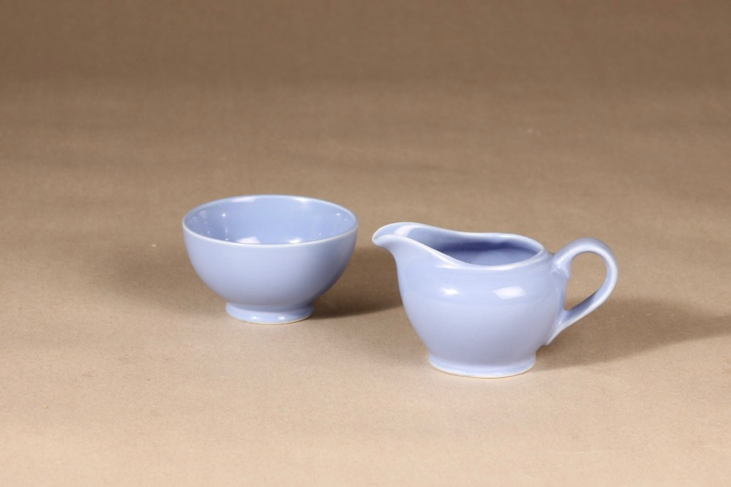 Arabia sugar bowl and creamer