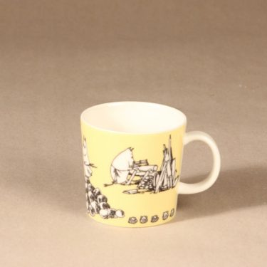 Arabia Moomin mug yellow design Tove Slotte
