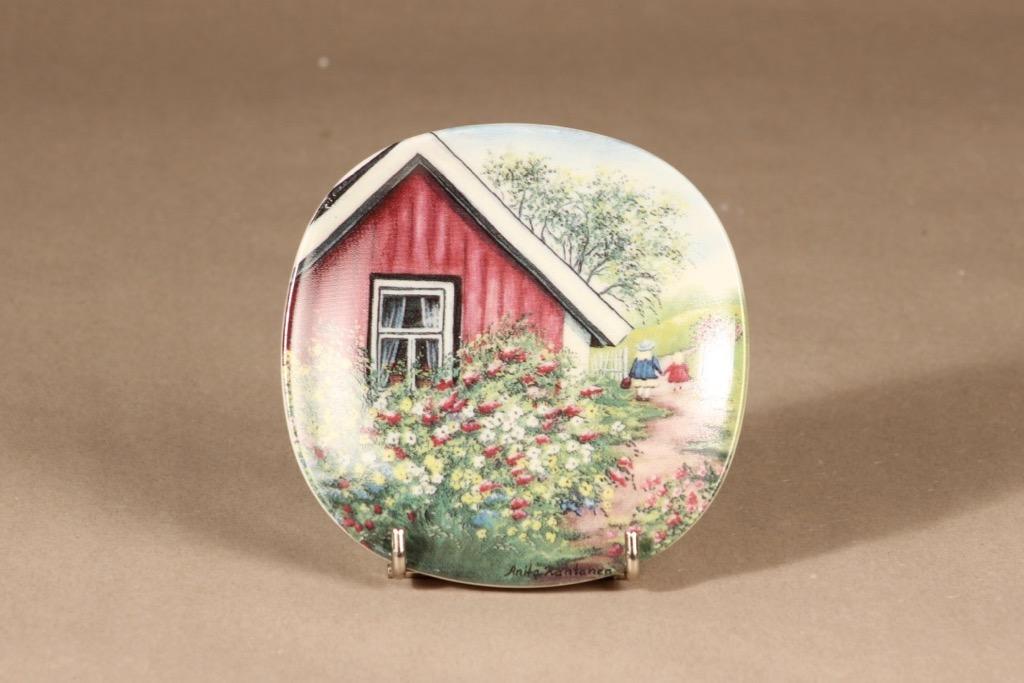 Arabia wall plate Old-time Spring designer Anita Rantanen-Siemers