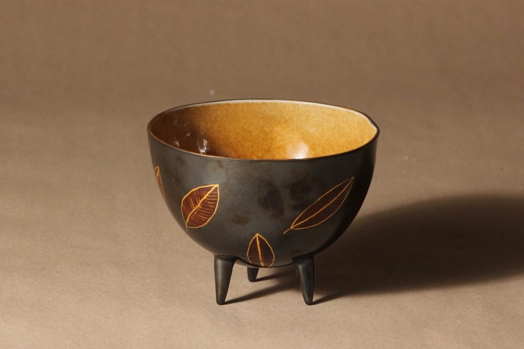 Arabia Pro Arte kulho, jalallinen, suunnittelija Inkeri Leivo, jalallinen, signeerattu, numeroitu