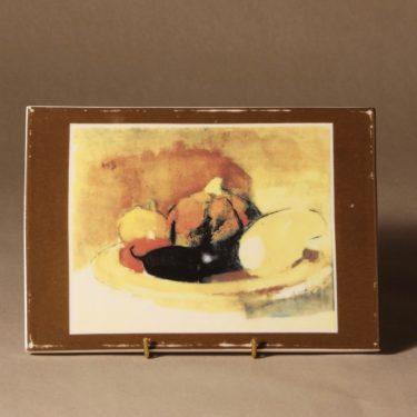 Arabia seinälaatta, Kurpitsa, koevedos, suunnittelija Helene Schjerfbeck, Kurpitsa, koevedos, koevedos