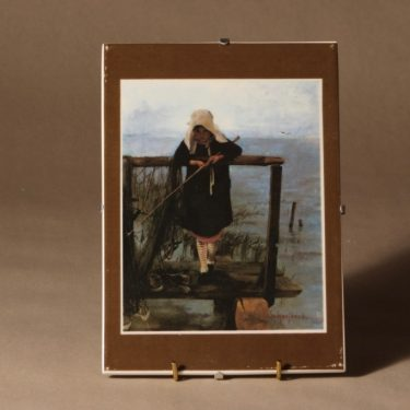Arabia wall plate fishing girl designer Helene Schjerfbeck
