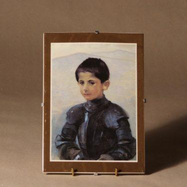 Arabia wall plate Armored boy designer Helene Schjerfbeck