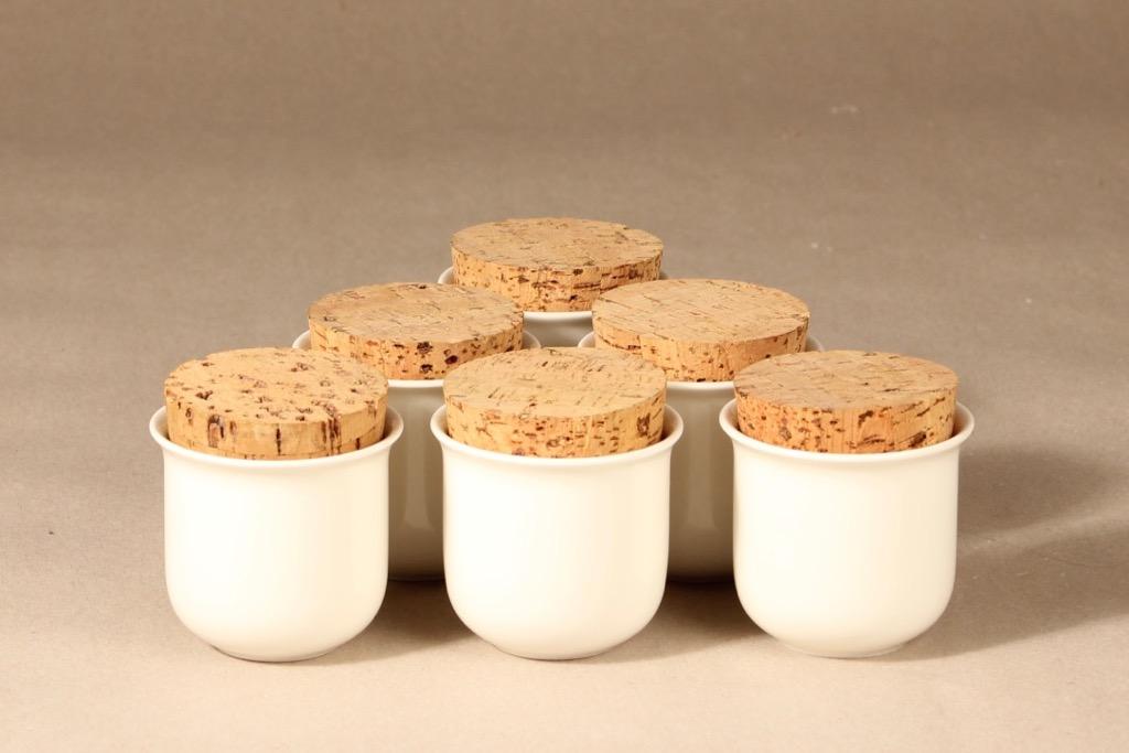Arabia KS Arctica spice jar designer Inkeri Leivo