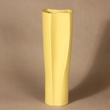 Arabia Zone maljakko, keltainen, suunnittelija Kristina Riska,