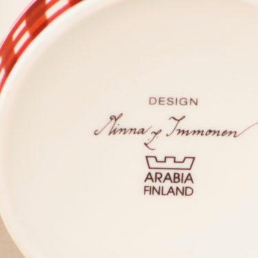 Arabia Omenasydän purnukka, kannellinen, suunnittelija Minna Immonen, kannellinen, joulu-aihe kuva 3
