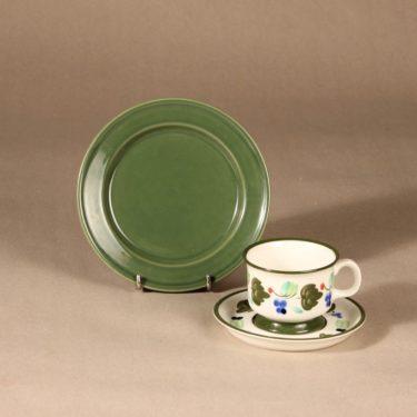 Arabia Palermo kahvikuppi, käsinmaalattu, suunnittelija Dorrit von Fieandt, käsinmaalattu, käsinmaalattu, signeerattu