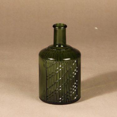 Riihimäen lasi Flindari carafe, green, designer Nanny Still