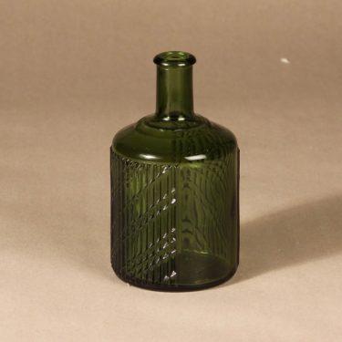 Riihimäen lasi Flindari carafe, moss green, designer Nanny Still