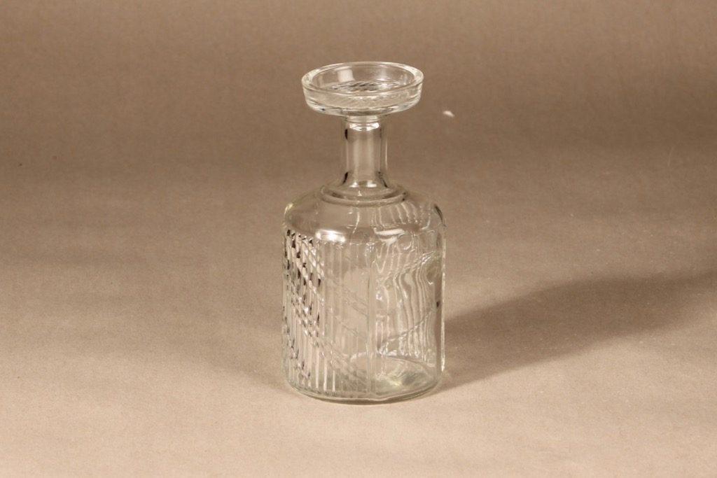 Riihimäen lasi Flindari carafe, clear, designer Nanny Still