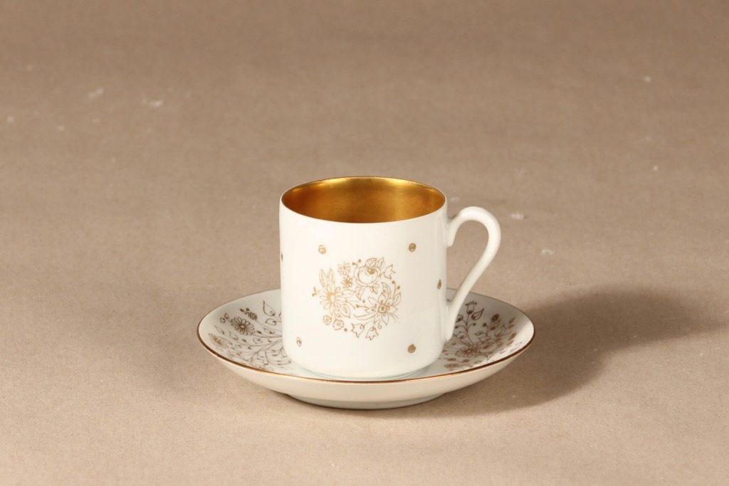 Arabia OC espresso cup, handpainted designer Esteri Tomula