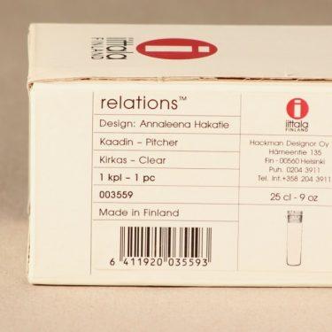 Iittala Relations kaadin, 25 cl, suunnittelija Annaleena Hakatie, 25 cl, signeerattu kuva 3