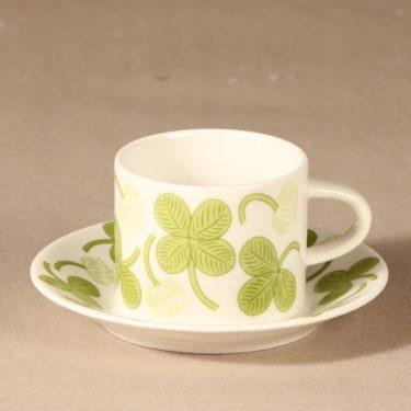 Arabia Apila kahvikuppi ja lautaset, vihreä, suunnittelija Birger Kaipiainen, serikuva kuva 2