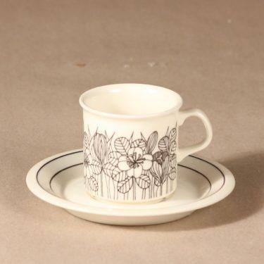 Arabia Krokus mokkakuppi, pieni, suunnittelija Esteri Tomula, pieni, serikuva, kukka-aihe kuva 2