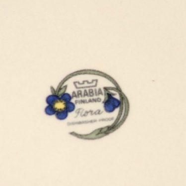 Arabia Flora lautanen, matala, suunnittelija Esteri Tomula, matala, serikuva, kukka-aihe kuva 2