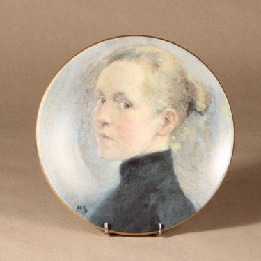 Arabia wall plate Self-portrait designer Helene Schjerfbeck