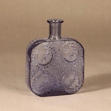 Riihimäen Lasi Grapponia bottle, neodyme designer Nanny Still,