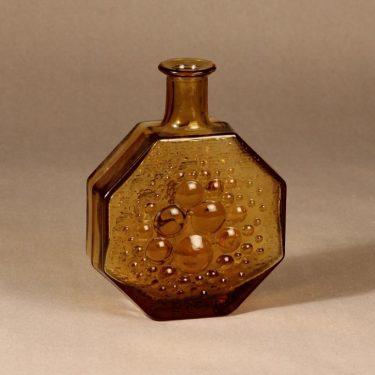 Riihimäen lasi Stella polaris bottle, amber designer Nanny Still