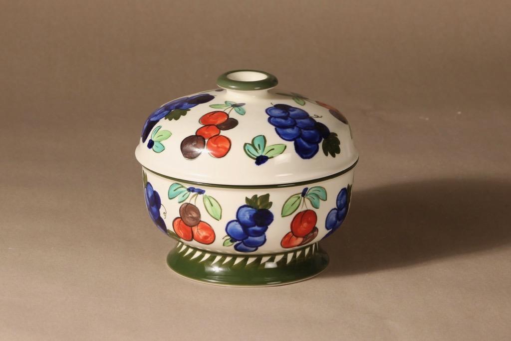 Arabia Palermo liemimalja, 1.08 l, suunnittelija Dorrit von Fieandt, 1.08 l, käsinmaalattu, signeerattu