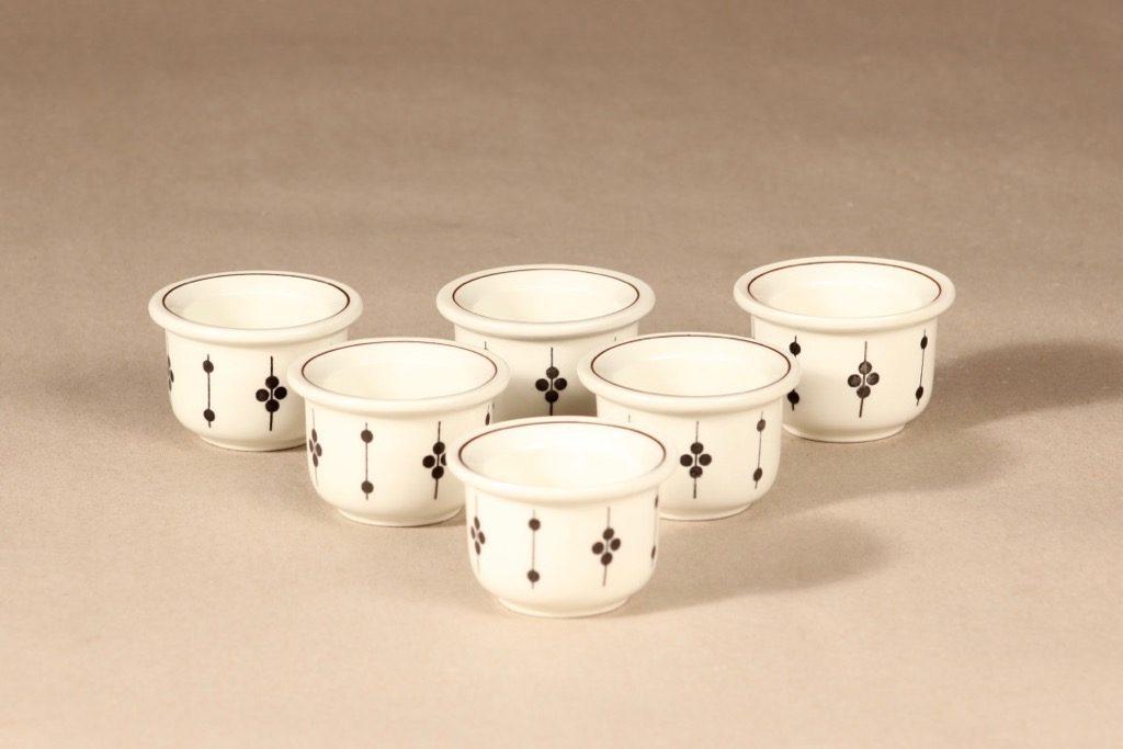Arabia Kartano egg cup, 6 pcs designer Esteri Tomula