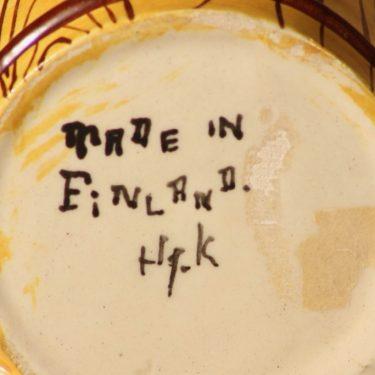 Kupittaan savi Matti ja Maija figuuri, käsinmaalattu, suunnittelija Artturi Numminen, käsinmaalattu, käsinmaalattu, naivismi, signeerattu kuva 4