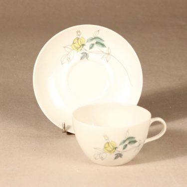 Arabia Julia kahvikuppi, käsinmaalattu, suunnittelija Hilkka-Liisa Ahola, käsinmaalattu, Kukka-aihe, käsinmaalattu kuva 2