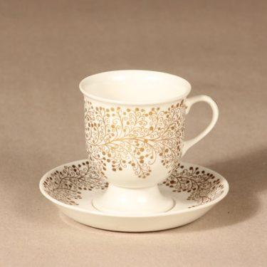 Arabia kahvikuppi ja lautaset, kulta, suunnittelija ,  kuva 2