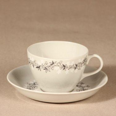Arabia Tiuku kahvikuppi ja lautaset, suunnittelija , köynnös, oksa kuva 2