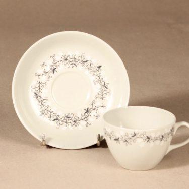 Arabia Tiuku kahvikuppi ja lautaset, suunnittelija , köynnös, oksa kuva 3