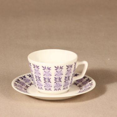 Arabia kahvikuppi, lila, suunnittelija , serikuva
