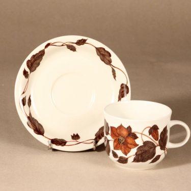 Arabia Tea for Two teekuppi, ruskea, suunnittelija Gunvor Olin-Grönqvist, serikuva kuva 2