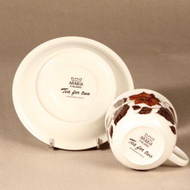 Arabia Tea for Two teekuppi, ruskea, suunnittelija Gunvor Olin-Grönqvist, serikuva kuva 3