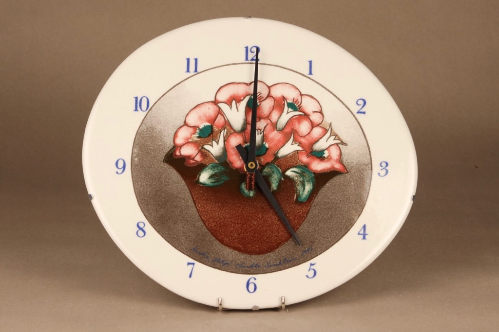 Arabia  clock Flower time designer Heljä Liukko-Sundström