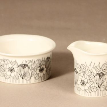 Arabia Krokus sugar bowl and creamer designer Esteri Tomula