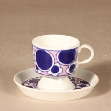 Arabia Pauliina kahvikuppi, suunnittelija Anja Jaatinen-Winquist, serikuva, retro