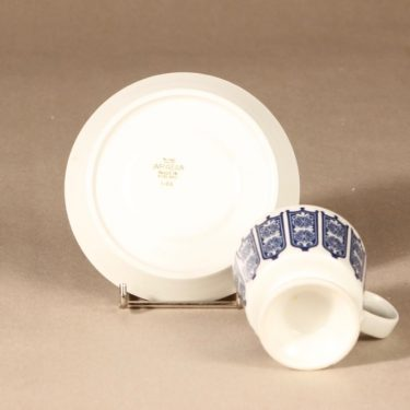 Arabia Rukinlapa kahvikuppi, sininen, suunnittelija Raija Uosikkinen, serikuva, abstrakti kuva 3