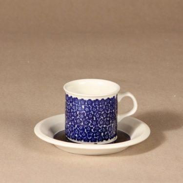 Arabia Faenza blue flower coffee cup designer Inkeri Seppälä