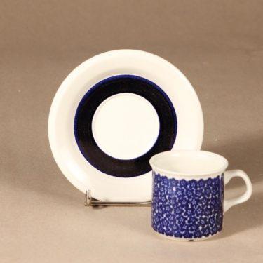 Arabia Faenza sinikukka kahvikuppi, sininen, suunnittelija Inkeri Seppälä, serikuva, kukka kuva 2