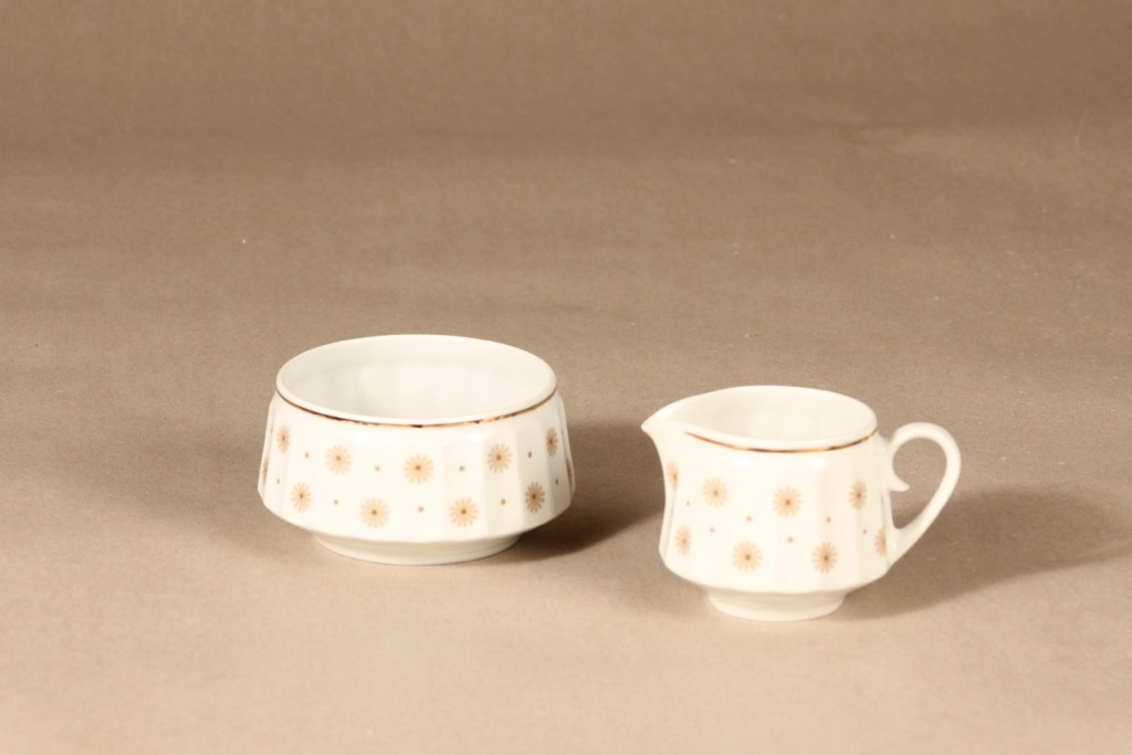 Arabia Roksana sugar bowl and creamer designer Richard Lindh