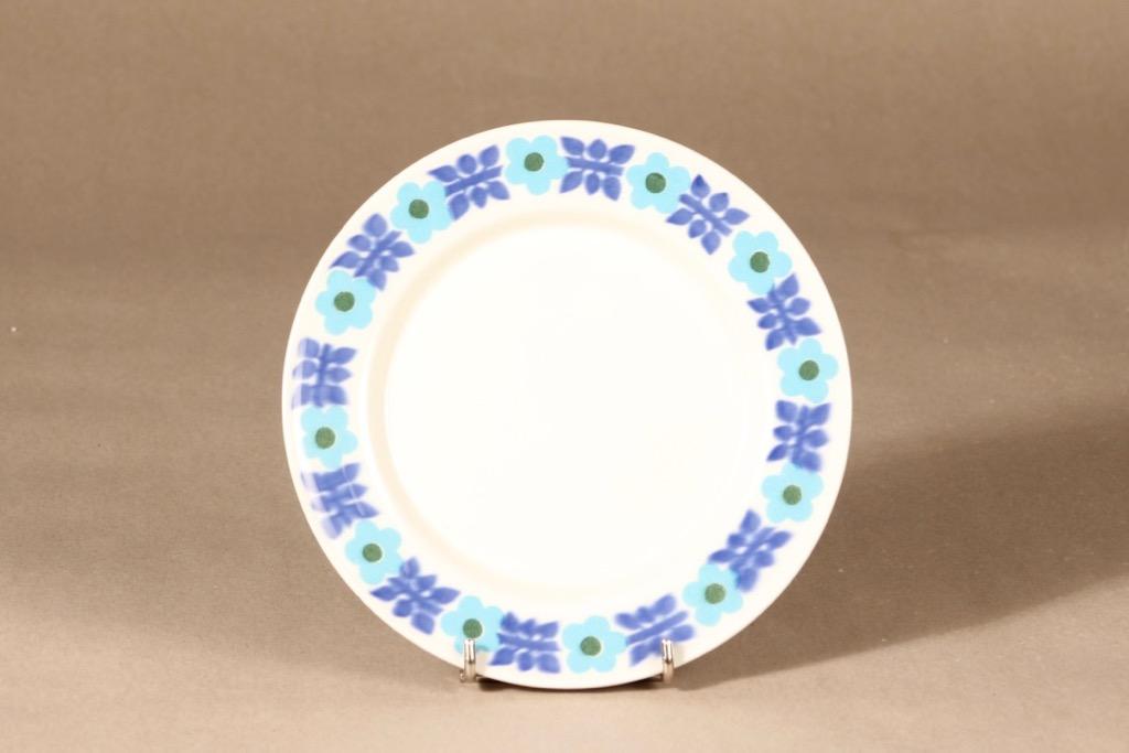 Arabia Ahmet lautanen, pieni, suunnittelija Raija Uosikkinen, pieni, serikuva, kukka