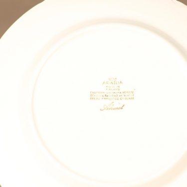 Arabia Ahmet lautanen, pieni, suunnittelija Raija Uosikkinen, pieni, serikuva, kukka kuva 2