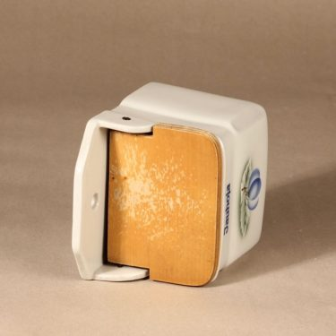 Arabia Luumu jauhosalkkari, suunnittelija Thure Öberg, puhalluskoriste kuva 2