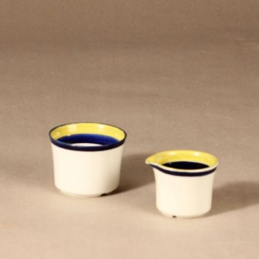 Arabia Paju sokerikko ja kermakko, käsinmaalattu, suunnittelija Anja Jaatinen-Winquist, käsinmaalattu