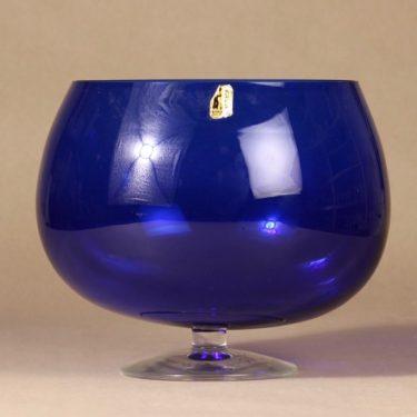Kumela 204=2550 boolimalja, sininen, suunnittelija Sirkku Kumela-lehtonen, jalallinen
