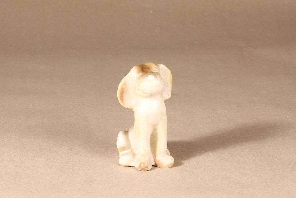 Arabia Dog figure, hand-painted designer Raili Eerola