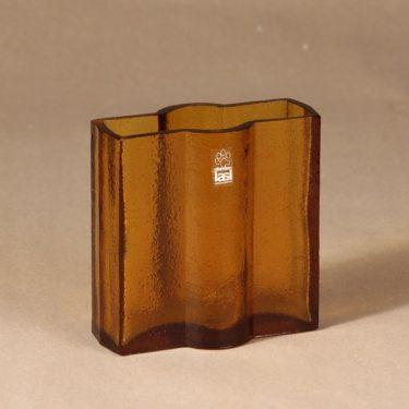 Riihimäen lasi Railo vase, brown designer Nanny Still