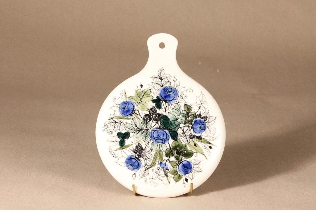 Arabia Venus peili, käsinmaalattu, suunnittelija Hilkka-Liisa Ahola, käsinmaalattu, signeerattu
