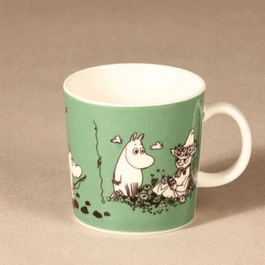 Arabia Moomin mug dark green designer Tove Slotte